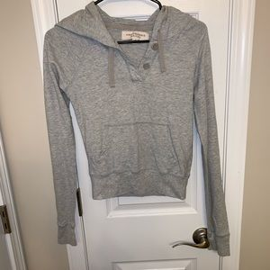 Gray hoodie with button details